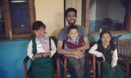 Pallav in mcleodganj with tibetan kids