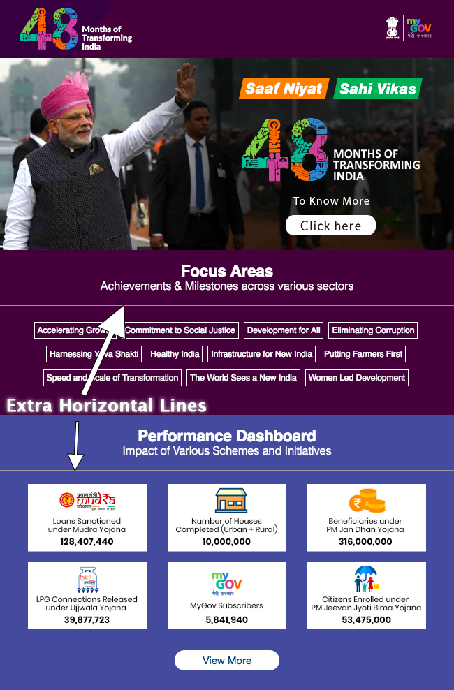 MyGov Email Teardown showing extra horizontal lines